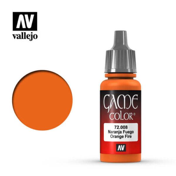 72008 Naranja fuego-Orange fire Esta gama de pinturas acrílicas, ha sido diseñada especialmente para contener todos los colores utilizados frecuentemente en figuras de fantasía. Los colores se presentan en botellas de 17 ml.