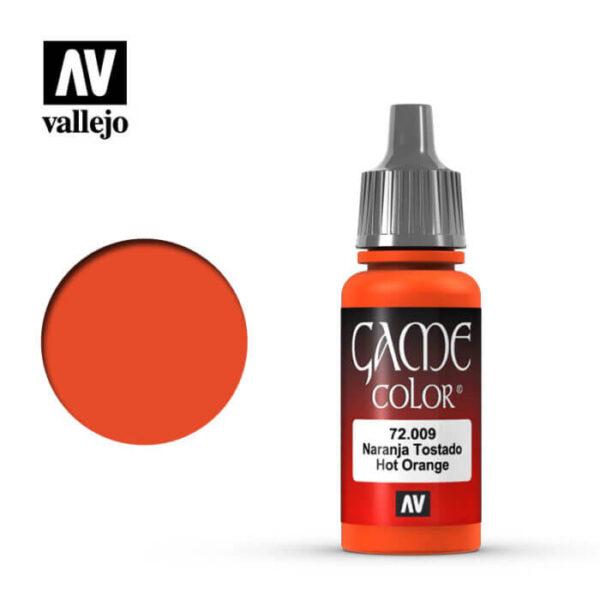 72009 Naranja tostado-Hot orange Esta gama de pinturas acrílicas, ha sido diseñada especialmente para contener todos los colores utilizados frecuentemente en figuras de fantasía. Los colores se presentan en botellas de 17 ml.