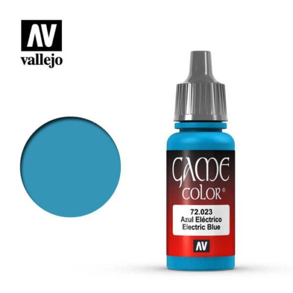 72023 Azul eléctrico-Electric blue Esta gama de pinturas acrílicas, ha sido diseñada especialmente para contener todos los colores utilizados frecuentemente en figuras de fantasía. Los colores se presentan en botellas de 17 ml.