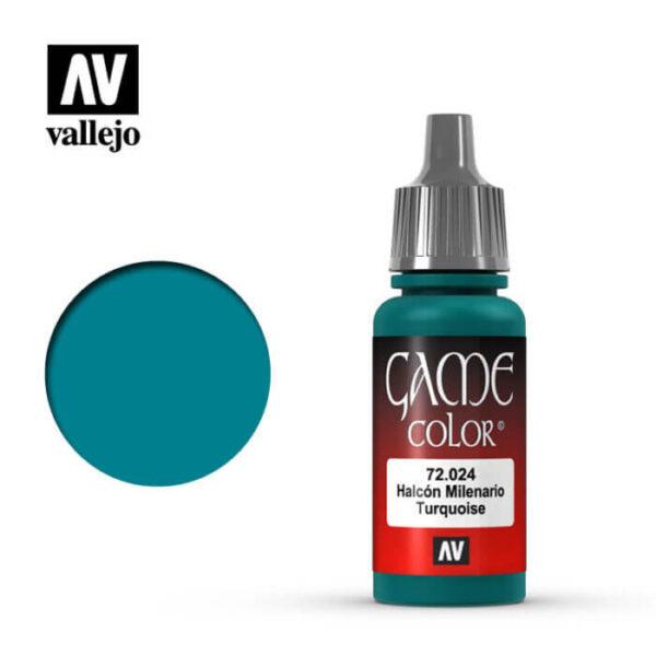72024 Halcón milenario-Falcon turquoise Esta gama de pinturas acrílicas, ha sido diseñada especialmente para contener todos los colores utilizados frecuentemente en figuras de fantasía. Los colores se presentan en botellas de 17 ml.
