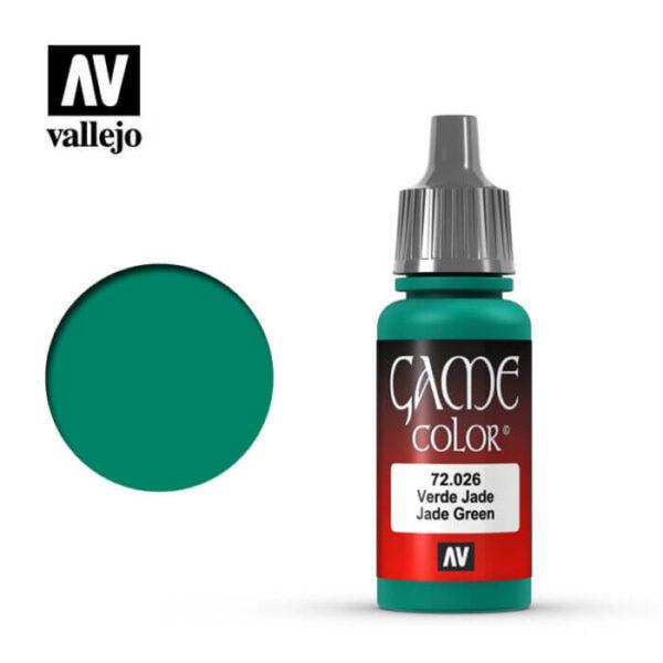 72026 Verde jade-Jade green Esta gama de pinturas acrílicas, ha sido diseñada especialmente para contener todos los colores utilizados frecuentemente en figuras de fantasía. Los colores se presentan en botellas de 17 ml.