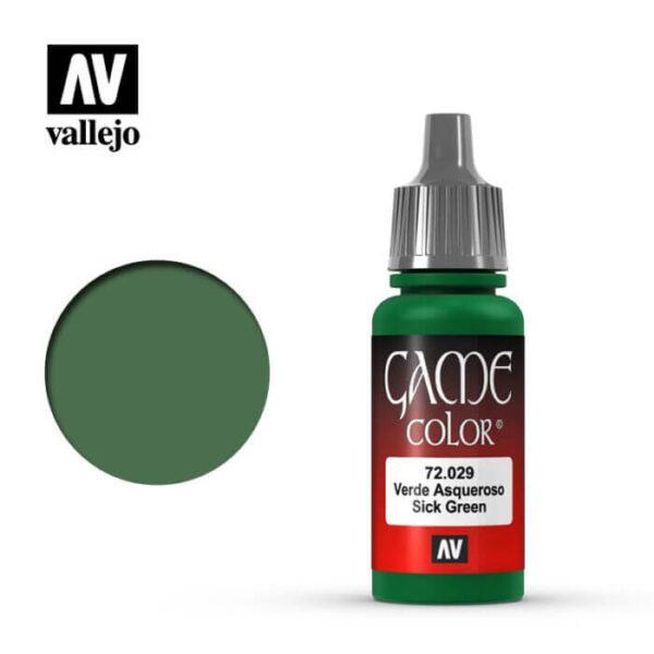 72029 Verde asqueroso-Sick green Esta gama de pinturas acrílicas, ha sido diseñada especialmente para contener todos los colores utilizados frecuentemente en figuras de fantasía. Los colores se presentan en botellas de 17 ml.