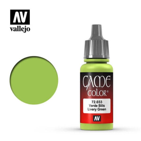 72033 Verde bilis-Livery green Esta gama de pinturas acrílicas, ha sido diseñada especialmente para contener todos los colores utilizados frecuentemente en figuras de fantasía. Los colores se presentan en botellas de 17 ml.