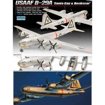 Academy 12528 USAAF B-29A Superfortress Enola Gay & Bockscar Kit en plástico para montar y pintar.