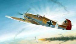 trumpeter-02293 Messersmitt Bf109F-4 Trop 1/32 Kit en plástico para montar y pintar. Incluye fotograbados. Hoja de calcas con 3 decora