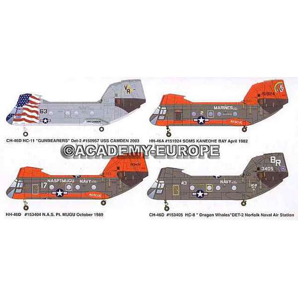 academy 12207 CH/HH-46D Seaknight US Navy