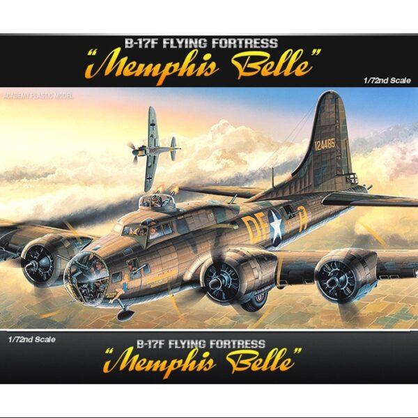 academy 12495 B-17F Flying Fortress Memphis Belle Kit en plástico para montar y pintar.