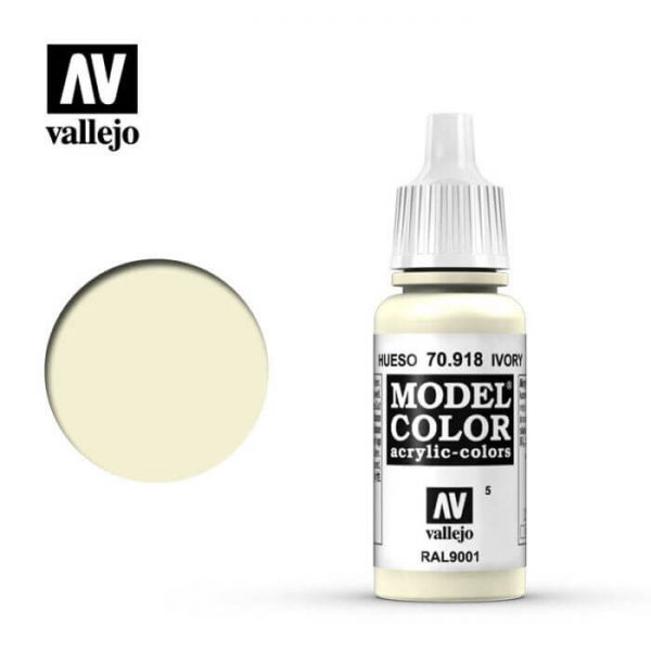 acrylicos vallejo 005 Hueso-Ivory 70.918 17ml Model Color es la gama mas amplia de pinturas acrílicas para Modelismo.