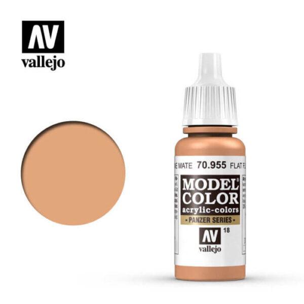 acrylicos vallejo 018 Carne mate-Flat flesh 70.955 17ml Model Color es la gama mas amplia de pinturas acrílicas para Modelismo.