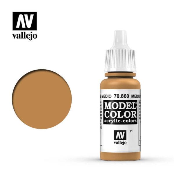 acrylicos vallejo 021 Carne medio-Medium Fleshtone 70860 17ml Model Color es la gama mas amplia de pinturas acrílicas para Modelismo.