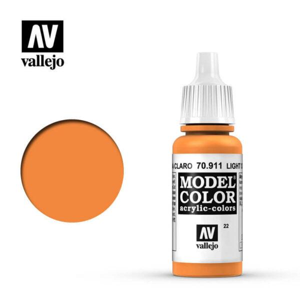 acrylicos vallejo 022 Naranja claro-Light orange 70911 17ml Model Color es la gama mas amplia de pinturas acrílicas para Modelismo.