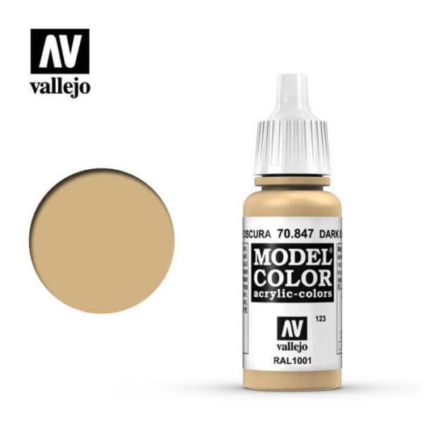 acrylicos vallejo 123 Arena oscura-Dark sand 70.847 17ml Model Color es la gama mas amplia de pinturas acrílicas para Modelismo.