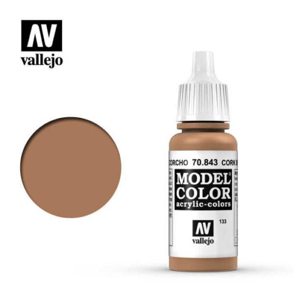 acrylicos vallejo 133 Marrón corcho-Cork brown 70.843 17ml Model Color es la gama mas amplia de pinturas acrílicas para Modelismo.