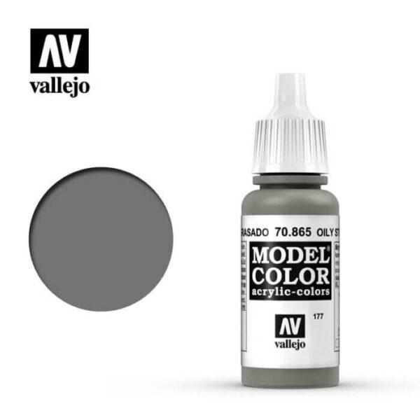 acrylicos vallejo 177 Acero engrasado-Oily steel 70.865 17ml Model Color es la gama mas amplia de pinturas acrílicas para Modelismo.