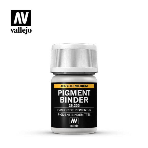 acrylicos vallejo 26233 Pigment Binder Fijador de Pigmentos 35ml Fijador acrílico para pigmentos a base de agua, de secado lento.