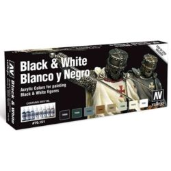 acrylicos vallejo 70151 Blanco y Negro Color Set Black & White