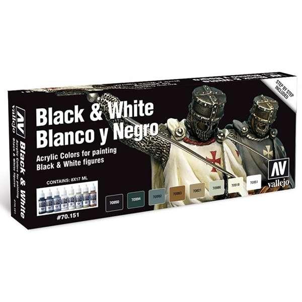 acrylicos vallejo 70151 Blanco y Negro Color Set Black & White