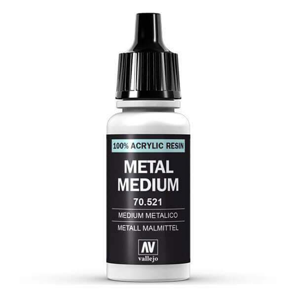 mc-191 Medium metálico-Metallic medium 70.521 17ml Medium acrílico con mica, que se puede mezclar con los colores para crear reflejos nacarados o utilizar solo con efectos plateados e iridiscentes.
