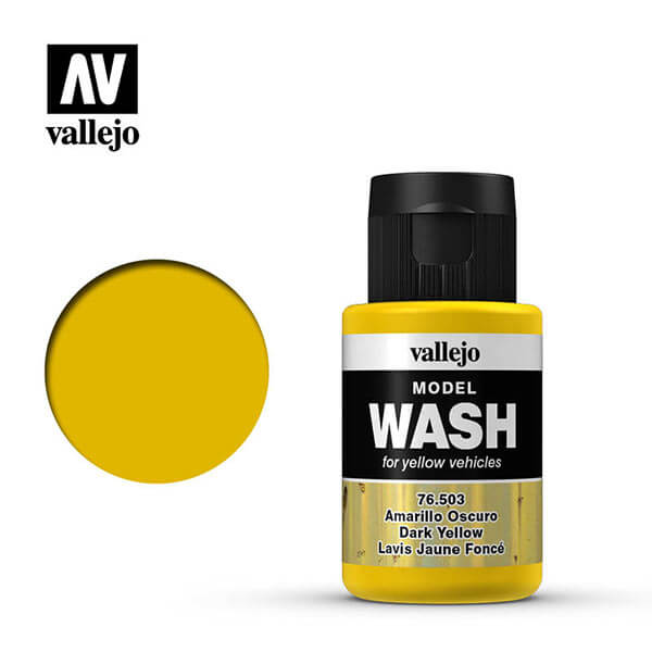 acrylicos vallejo 76503 Model Wash Amarillo Oscuro Dark Yellow 35ml
