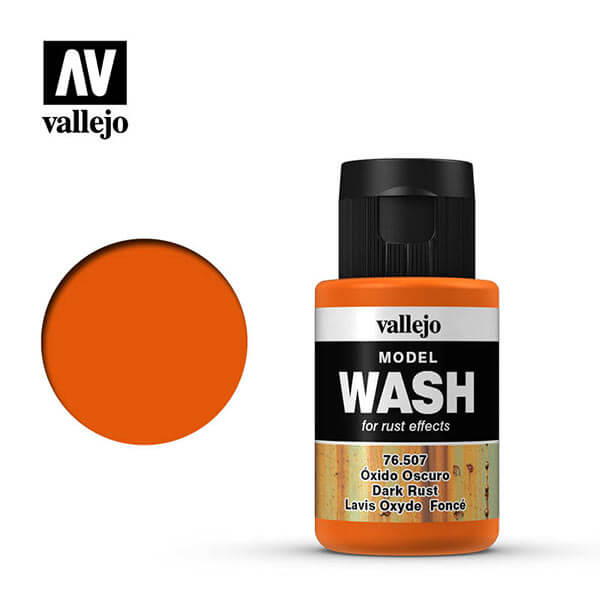 acrylicos vallejo 76507 Model Wash Oxido oscuro Dark rust 35ml