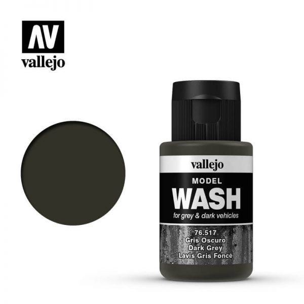 acrylicos vallejo 76517 Model Wash Gris oscuro Dark grey 35ml