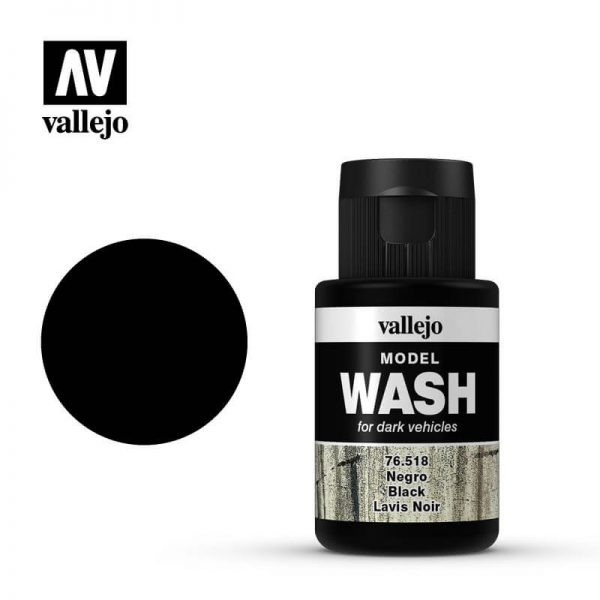 acrylicos vallejo 76518 Model Wash Negro Black 35ml