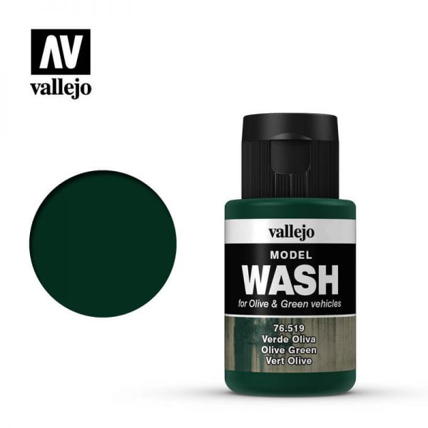 acrylicos vallejo 76519 Model Wash Olive green Verde oliva 35ml
