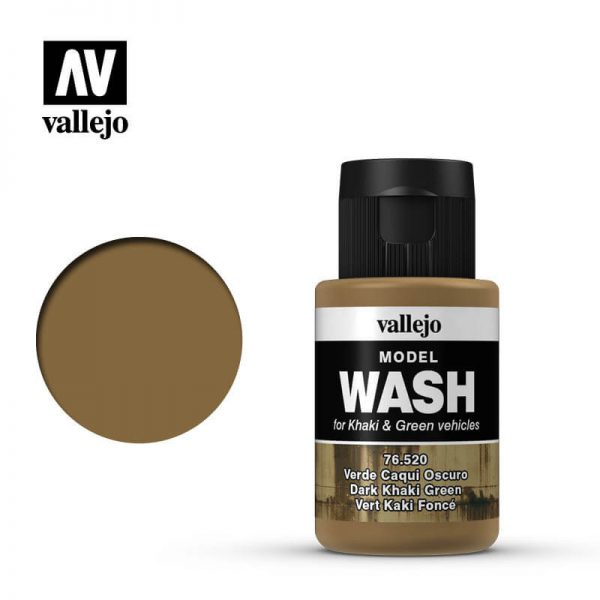 acrylicos vallejo 76520 Model Wash Dark Khaki Green Verde Caqui Oscuro 35ml