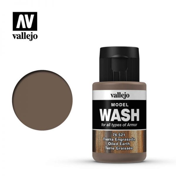 acrylicos vallejo 76521 Model Wash Oiled Earht Tierra Engrasada 35ml