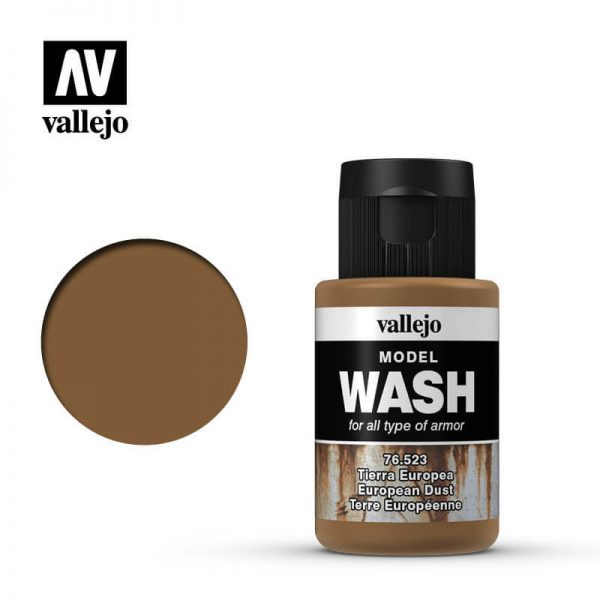 acrylicos vallejo 76523 Model Wash European Dust Tierra Europea 35ml