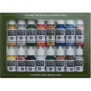 acrylicos vallejo set 16 colores