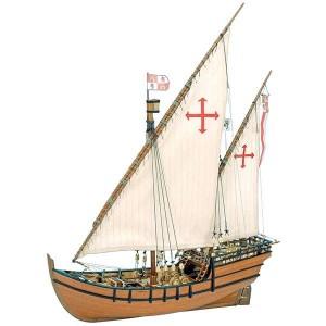 artesania latina 22410 Calabera La Niña La Niña era una de las tres carabelas usadas por Cristóbal Colón en el primer viaje al nuevo mundo en 1492. Construida en los astilleros del Puerto de Moguer pocos años antes del viaje, se convirtió en la nave capitana de la expedición tras el encallamiento de la Santa María.
