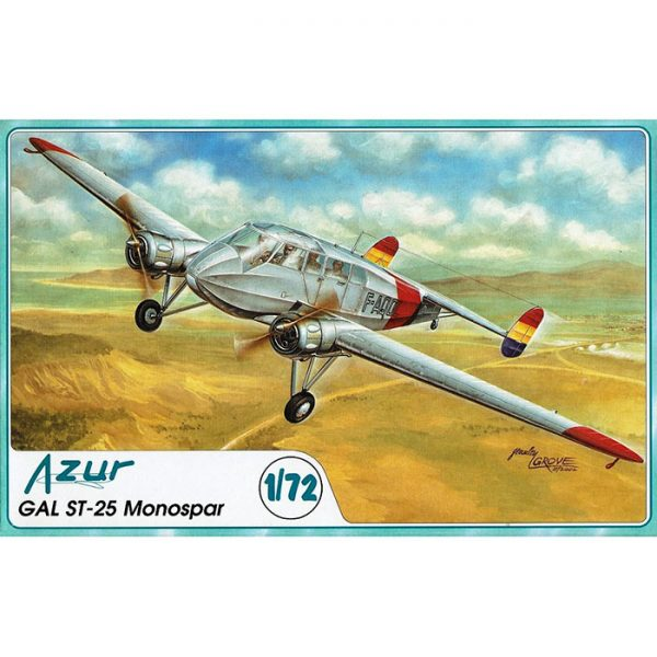 Gal ST-25 Monospar 1/72 Kit en plástico para montar y pintar. Incluye piezas en resina.