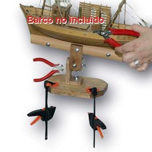 Soporte de cascos madera y accesorios