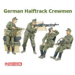 dragon 6193 German Halftrack crewmen Kit en plástico para montar y pintar. Incluye 4 figuras de tripulantes de semi-oruga alemán. Piezas 30+