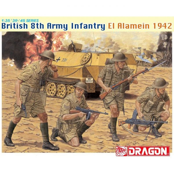 dragon 6390 British 8th Army Infantry El Alamein 1942 Kit en plástico para montar y pintar.