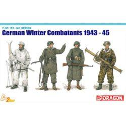dragon 6705 German Winter Combatants 1943-45 Kit en plástico para montar y pintar. Incluye 4 figuras de soldados alemanes con ropa de abrigo.