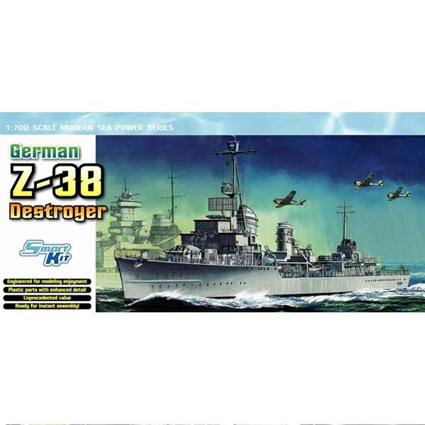 dragon 7134 German Z-38 Destroyer 1/700