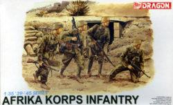 dragon 6138 Afrika Korps Infantry 1/35 Kit en plástico para montar y pintar. Incluye 4 figuras de infantería alemana del Afrika Korps.