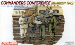 dragon 6144 Commanders Conference Kharkov 1943 Kit en plástico para montar y pintar. Incluye 4 figuras. piezas 39