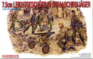 dragon 6147 7,5cm Leichtgeschutz 40 with Fallschirmjagerdragon 6147 7,5cm Leichtgeschutz 40 with Fallschirmjager