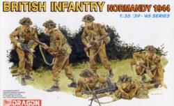 drg 6212 British Infantry. Normandy 1944 Kit en plástico para montar y pintar. Maqueta Escala 1/35