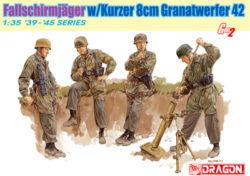 dragon 6373 Fallschirmjager w/Kurzer 8cm Granatwerfer 42 1/35 Kit en plástico para montar y pintar.