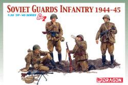 dragon 6376 Soviet Guards Infantry 1944-45 Kit en plástico para montar y pintar. Incluye 4 figuras y fotograbados. Escala 1/35