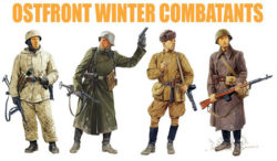 dragon 6652 Ostfront winter combatants Kit en plástico para montar y pintar. Incluye dos figuras de soldados soviéticos y dos figuras de soldados alemanes con uniforme de invierno durante la 2ªGM.