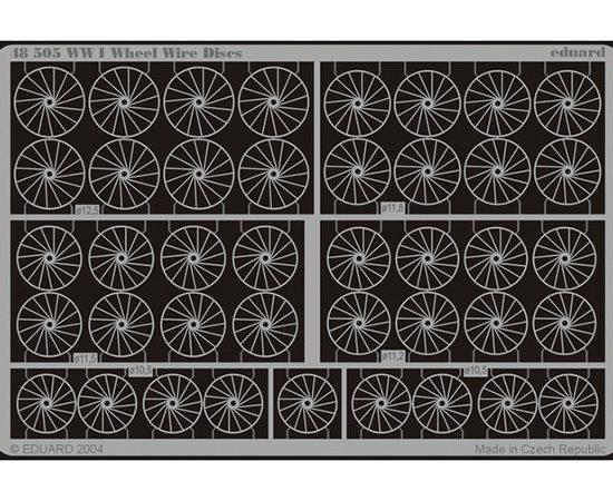 eduard 48505 Wheel Wire Discs WWI 1/48 Piezas en latón fotograbado para formar los radios de las ruedas de los aviones de la Primera Guerra Mundial en varios diámetros