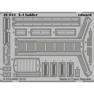 eduard 48644 A-4 Escalerilla Acceso (Hasegawa) 1/48 Piezas en latón fotograbado para detallar la maqueta de la marca y modelo especificado.