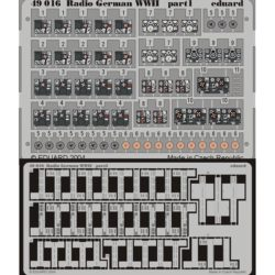 eduard 49016 Radio German WWII 1/48 Piezas en fotograbado a color para representar las radios alemanas durante la Segunda Guerra Mundial.