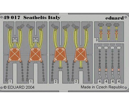 eduard 49017 Seatbelts Italy WWII 1/48 Cinturones de seguridad en fotograbado coloreado para los aviones italianos durante la Segunda Guerra Mundial.