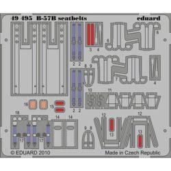 eduard 49495 Seatbelts B-57B Camberra 1/48 Cinturones de seguridad en fotograbado coloreado para el B-57B Camberra